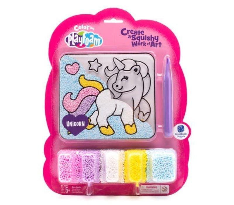 Colour by Plafoam Unicorn - Playfoam à positionner Licorne