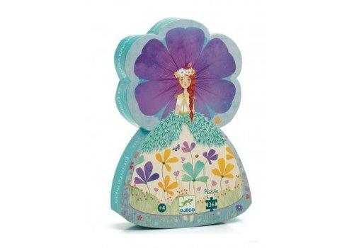 Djeco Puzzle silhouette / Princesse du printemps