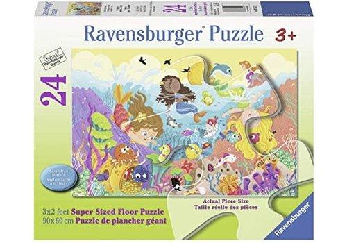 Ravensburger Casse-tête de plancher Le barbotage des sirènes 24 morceaux