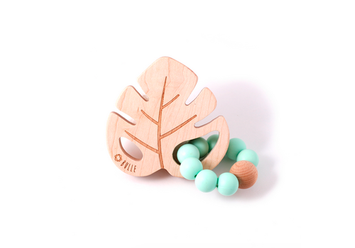 Bulle Bijouterie Rattle – Leaf: Mint