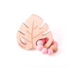 Bulle Bijouterie Hochet feuille - Vieux-Rose