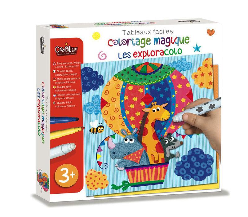 Coloriage magique Facile - Les Exploracolov