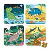 Janod Casse-tête progressif 6-9-12 et 16 morceaux - les dinosaures