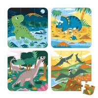 Casse-tête progressif 6-9-12 et 16 morceaux - les dinosaures