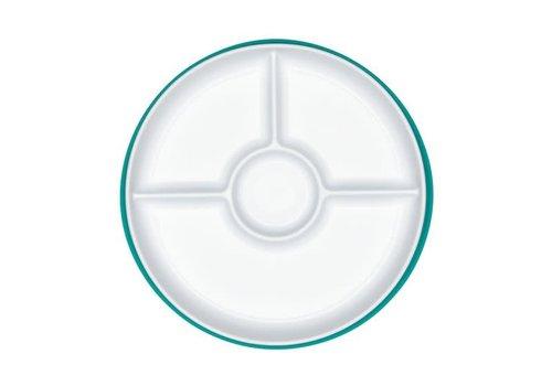 oxo tot 0 Assiette compartimentée à ventouse - Vert Turquoise