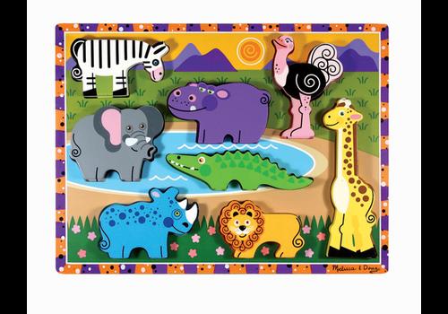 Melissa & Doug Safari Animals - Casse-tête à encastrements, les animaux de la savane