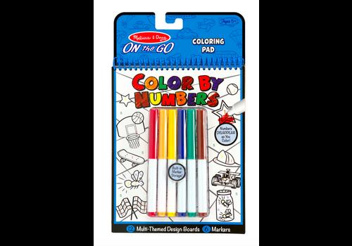 Melissa & Doug Playtime, Construction, Sports & More - Coloriage par numéros, construction et sports