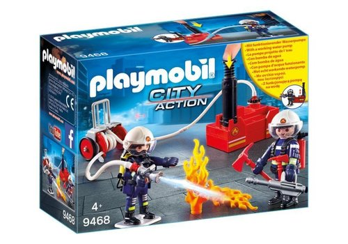 Playmobil Pompiers avec materiel d'incendie
