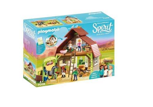 Playmobil Grange avec Lucky, Apo et Abigaelle