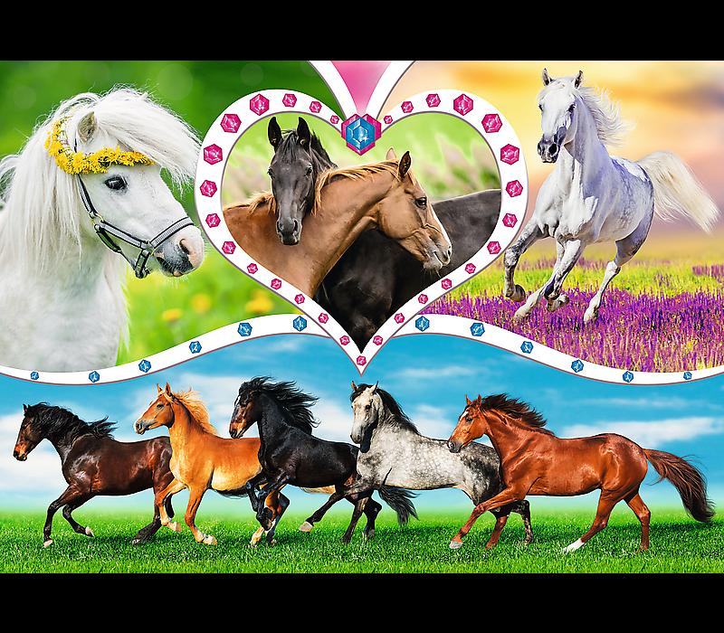 Casse-tête - Magnifiques chevaux - 200 morceaux