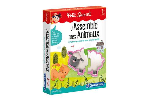 Clementoni Casse-tête J'assemble mes animaux