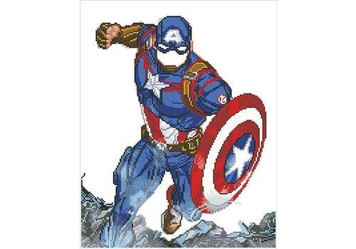 Diamond Dotz Diamo de Dotz - Captain America in action