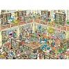 Jumbo Casse-tête 1000 morceaux, la bibliothèque, JvH
