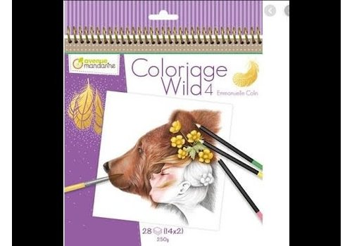 Avenue mandarine Cahier de coloriage Wild 4
