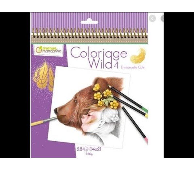 Cahier de coloriage Wild 4