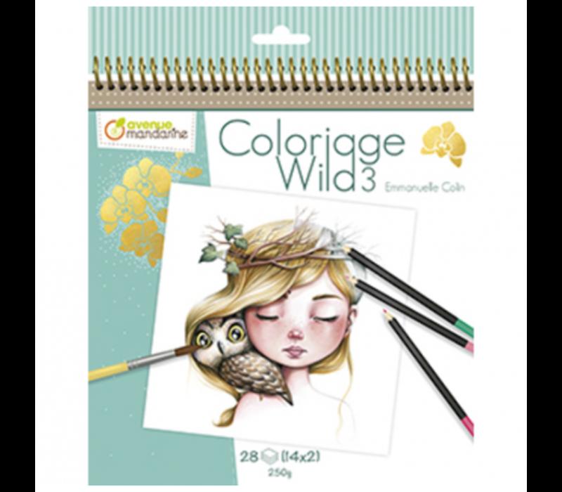 Cahier de coloriage Wild 3
