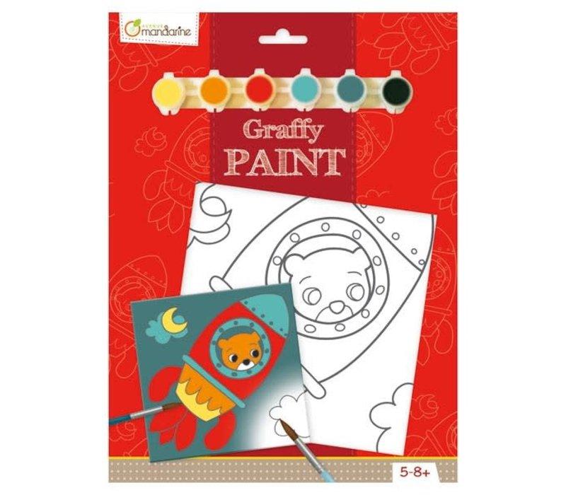 Peinture a numéro - Graffy Paint - Ours Fusee
