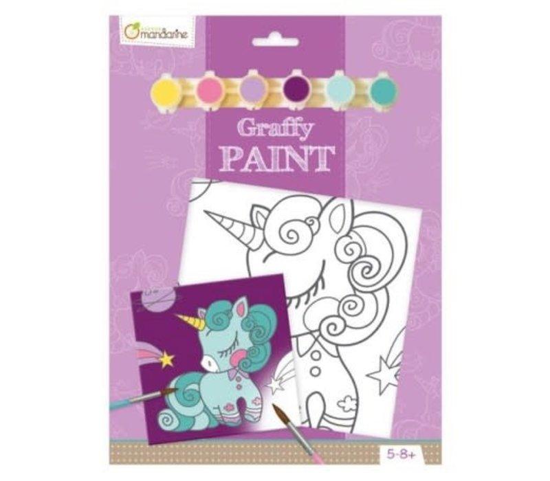Peinture a numéro - Graffy Paint - Licorne