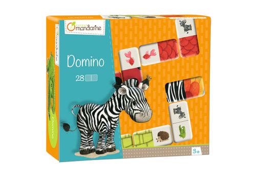 Avenue mandarine Domino Animaux & textures