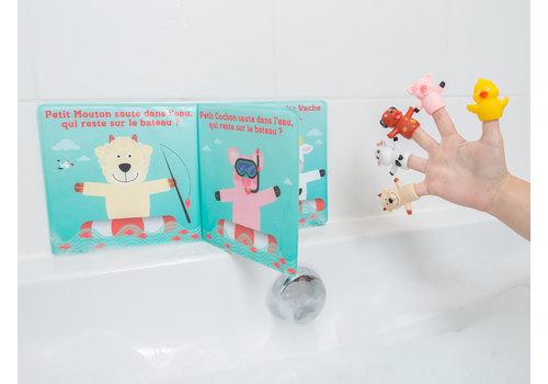ludi Livre de bain avec 5 marionnettes (francais)