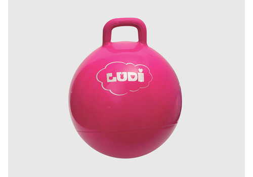 ludi Ballon sauteur rose 45cm