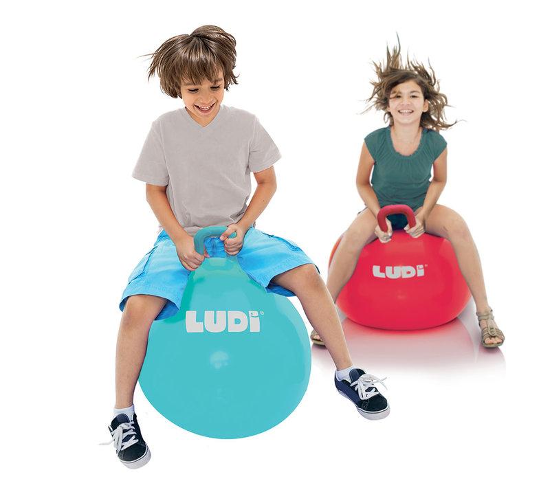 Ballon sauteur xxl 55cm bleu