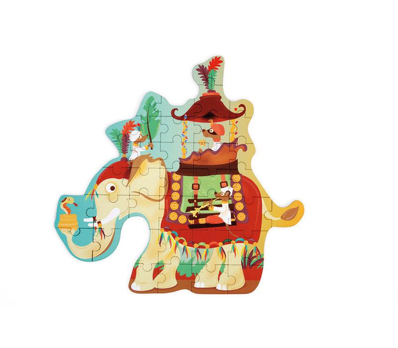 Casse-tête 37 morceaux - Éléphant