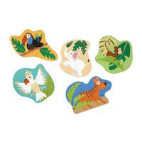 Casse-tête évolutif jungle 3-4-5-6-8 morceaux