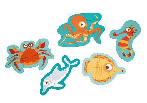 Scratch Casse-tête évolutif Ocean 3-4-5-6-8 morceaux