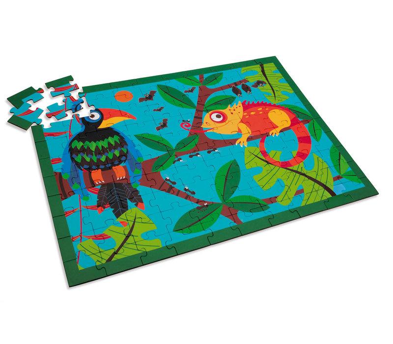 Casse-tête 100 morceaux - Toucan dans la jungle
