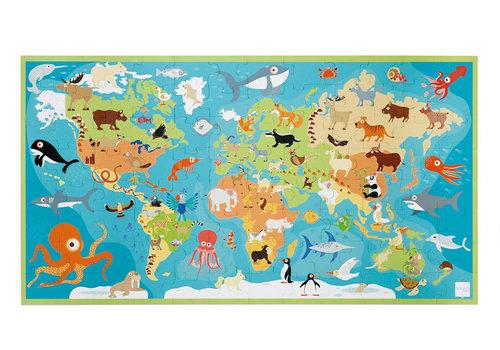 Scratch Casse-tête 100 morceaux XXL - Animaux du monde