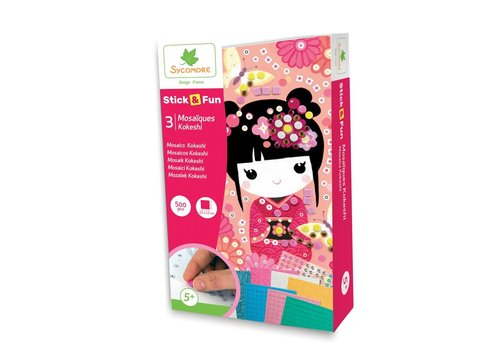 Sycomore Stick'N Fun - 3 Mini Mosaïques - Kokeshi