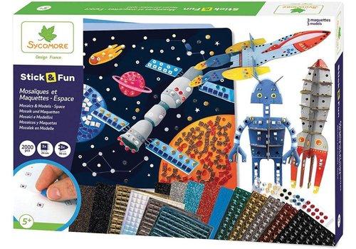 Sycomore Stick'N Fun - XL Mosaïques et Maquettes - Espace