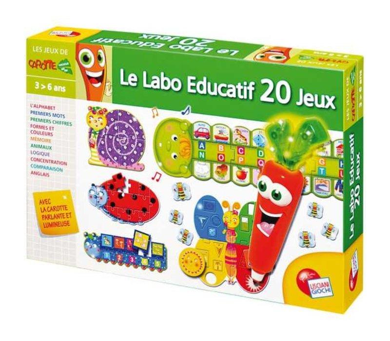 Carotina- Stylo parlant Laboratoire éducatif 20 jeux version française