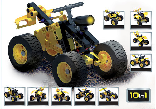 Lisciani (Giochi) Science Hi-Tech- 4 roues 10 en 1 avec LED