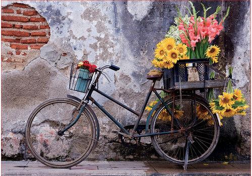 Educa Casse-tête 500 pièces - Bicyclette avec fleurs