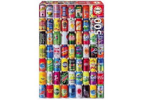 Educa Casse-tête 500 pièces - Canettes de soda