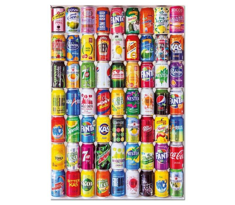 Casse-tête 500 pièces - Canettes de soda