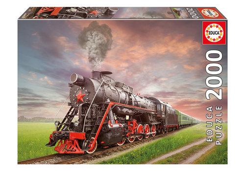 Educa Casse-tête 2000 pièces - Locomotive à vapeur