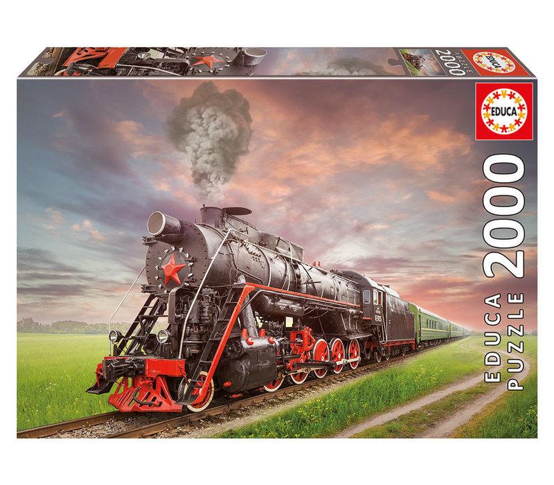 Casse-tête 2000 pièces - Locomotive à vapeur
