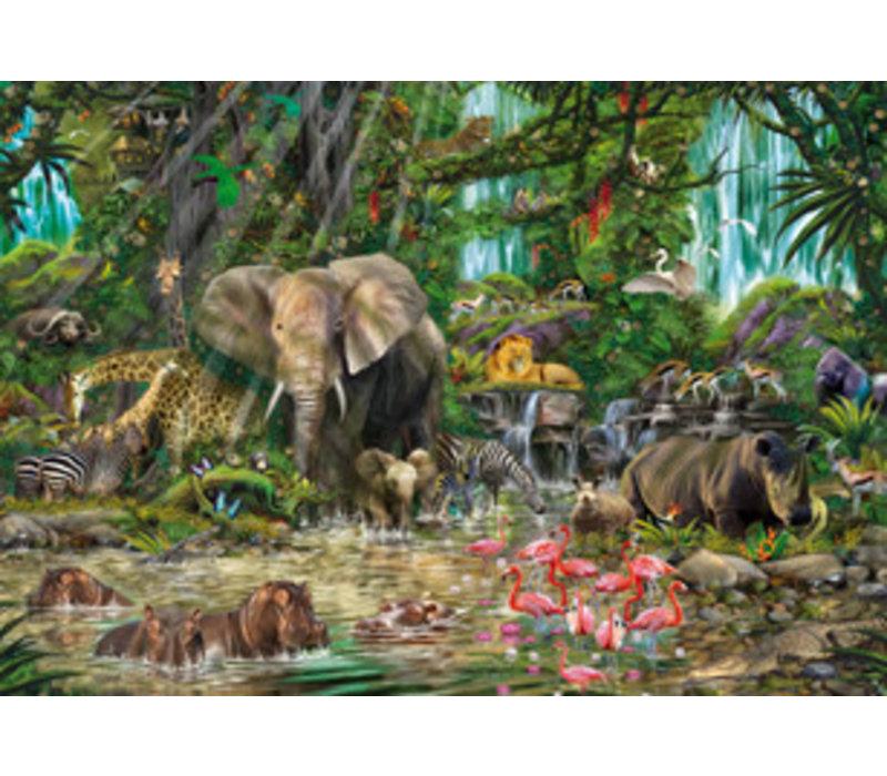 Casse-tête 2000 pièces - Jungle africaine