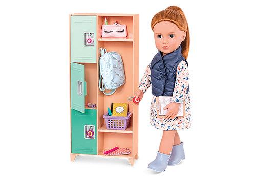 """Our generation Accessoires de luxe OG - """"Classroom Cool Locker Set"""" pour poupée de 46 cm"""