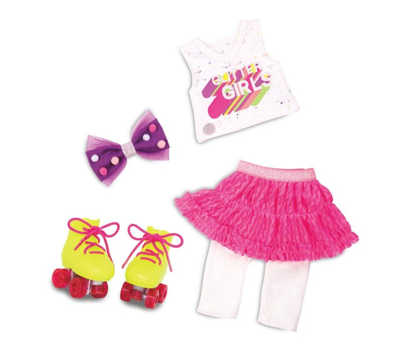 "Glitter Girls - Ensemble de luxe ""Roller skating fun"" pour poupée 36 cm"