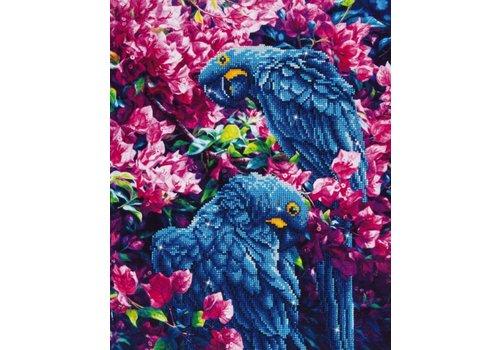 Diamond Dotz Peinture a diamants - Diamond Dotz - Blue Parrots