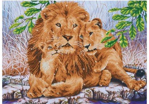 Diamond Dotz Diamond Dotz - Lion Family