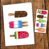 pico Carte de souhaits Pops colorés