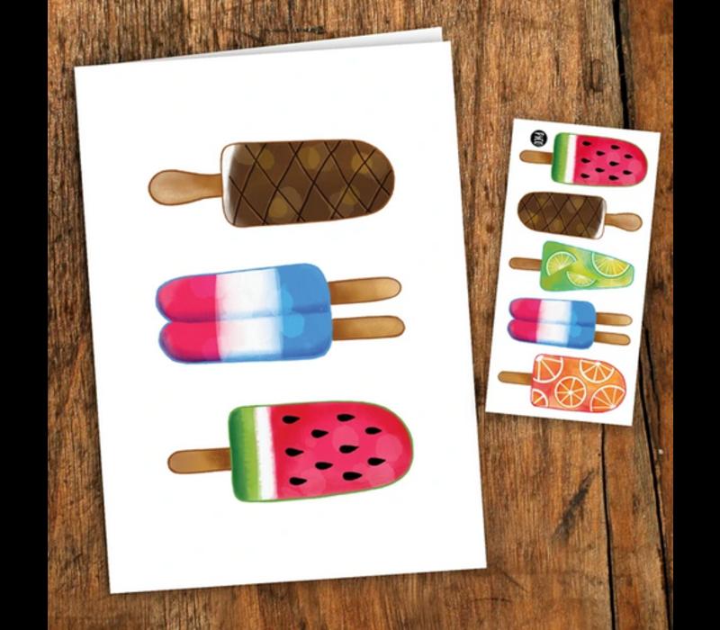 Carte de souhaits Pops colorés