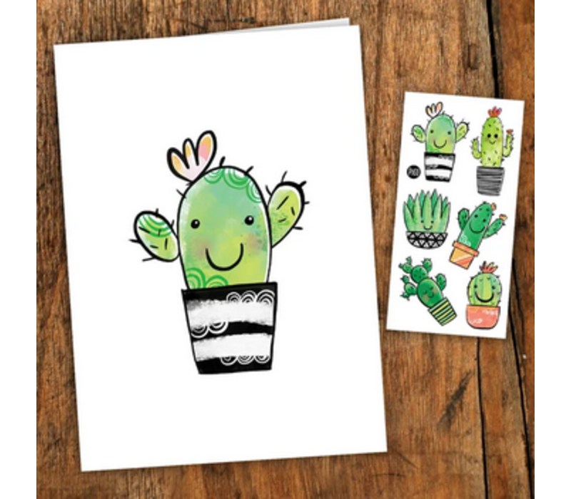 Carte de souhaits - Cactus Coquins
