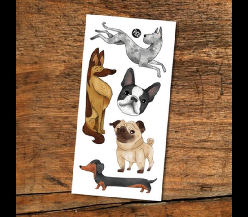 Tatouages temporaires - Les chiens
