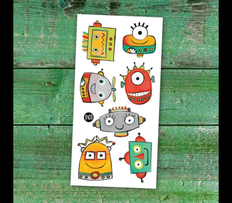 Tatouages temporaires - Les robots rigolos